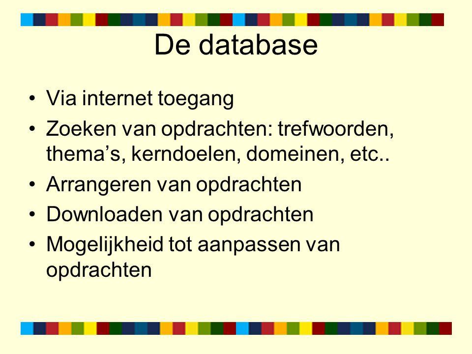 De database Via internet toegang