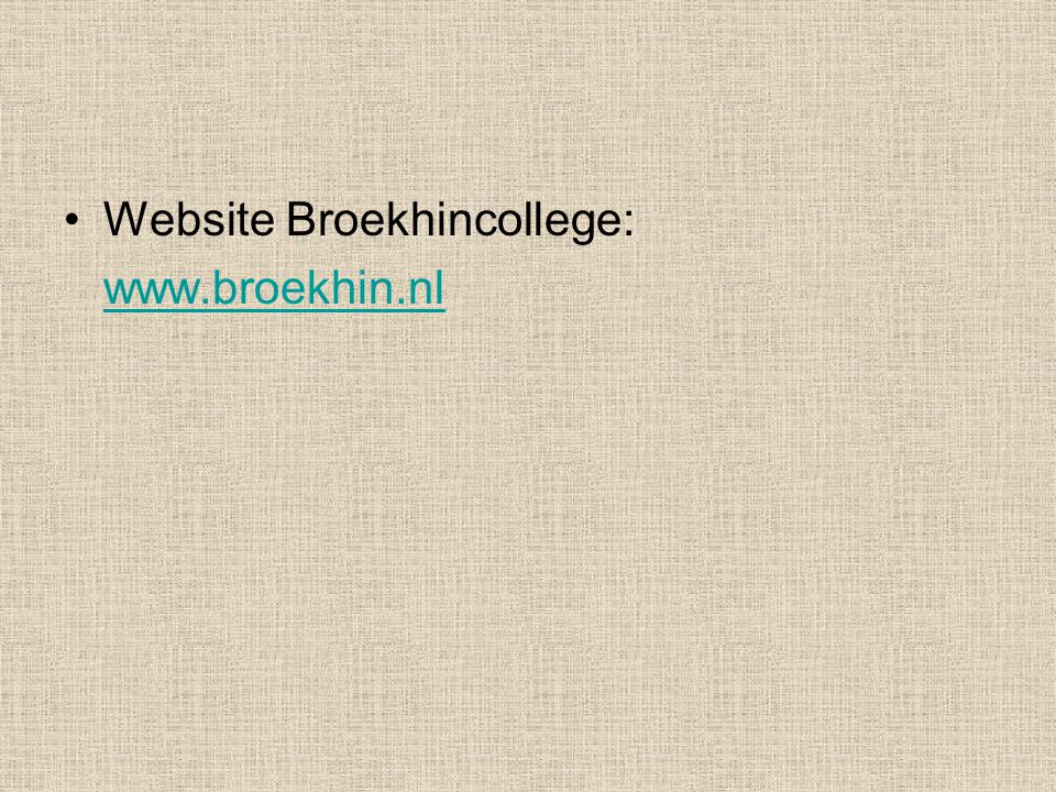 Website Broekhincollege: