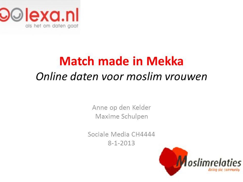 Match made in Mekka Online daten voor moslim vrouwen