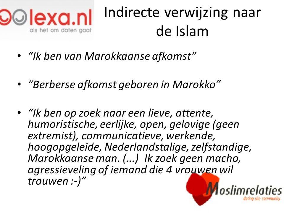 Indirecte verwijzing naar de Islam