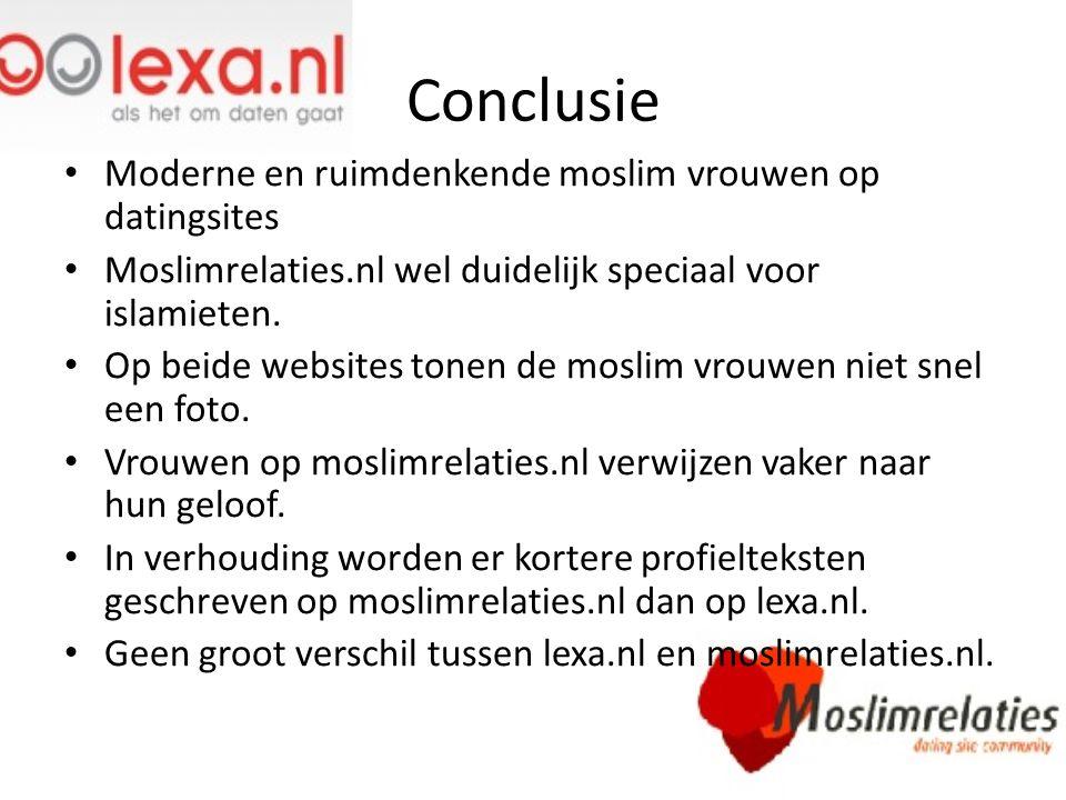 Conclusie Moderne en ruimdenkende moslim vrouwen op datingsites