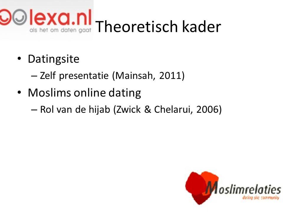 Theoretisch kader Datingsite Moslims online dating
