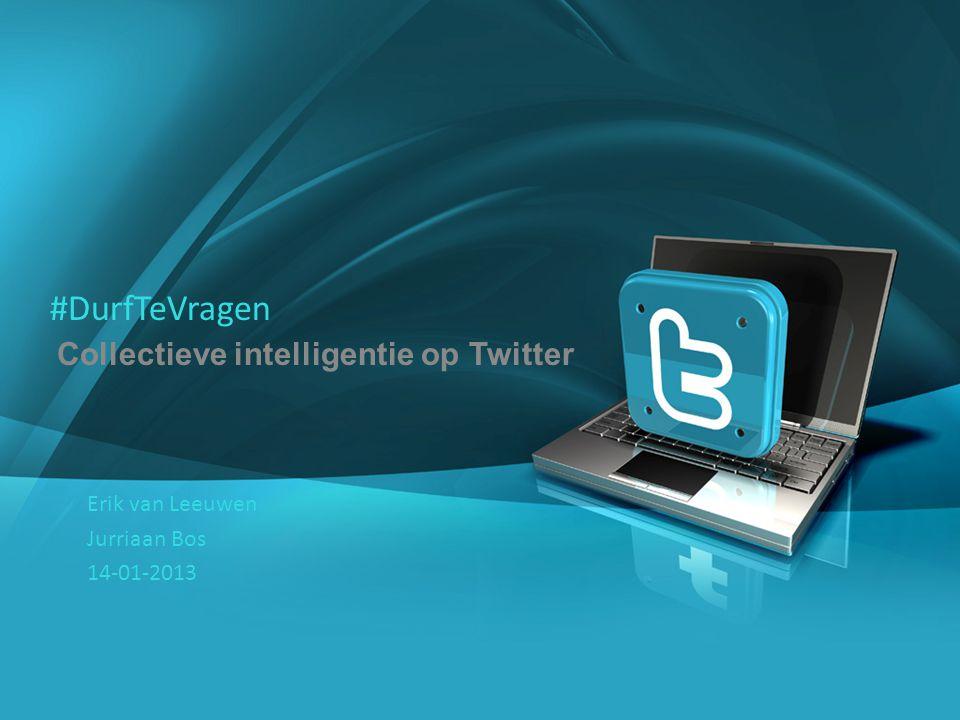#DurfTeVragen Collectieve intelligentie op Twitter Erik van Leeuwen