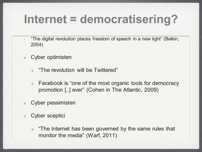 Internet = democratisering