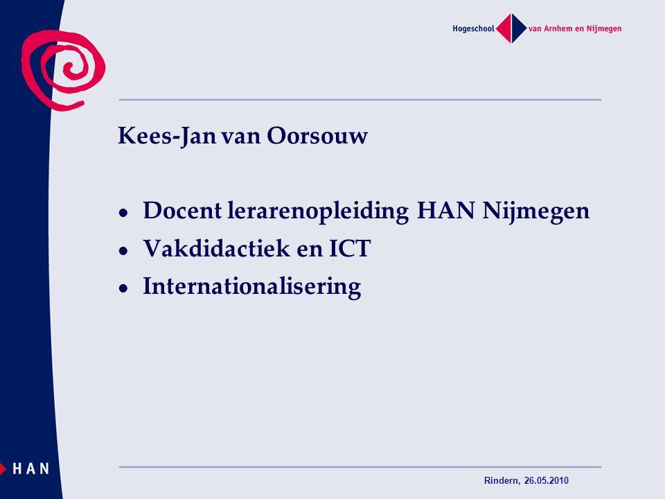 Docent lerarenopleiding HAN Nijmegen Vakdidactiek en ICT
