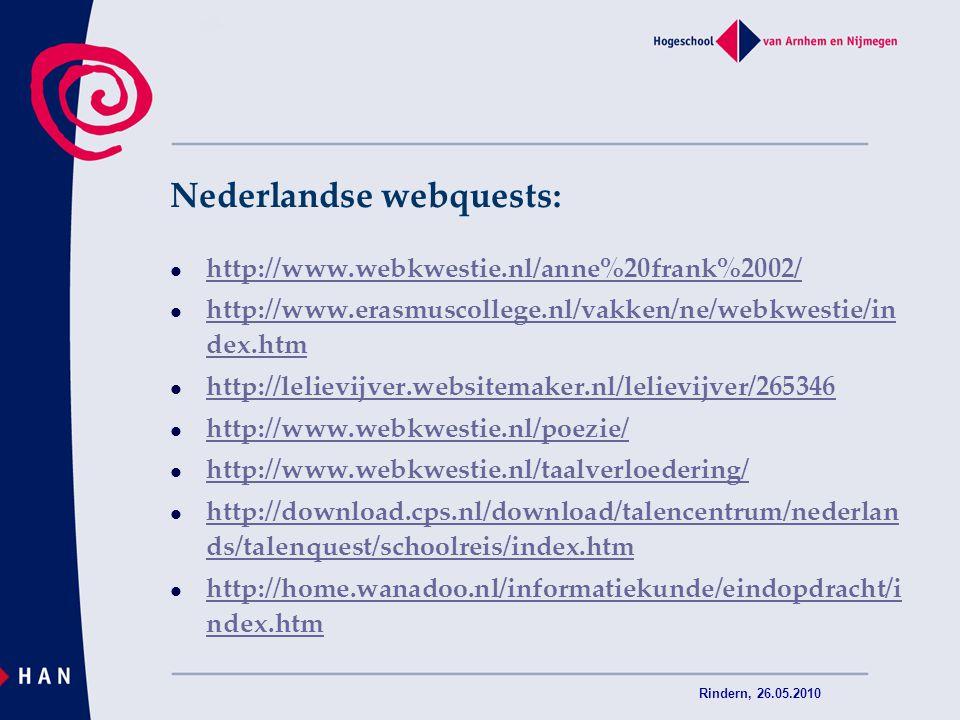 Nederlandse webquests: