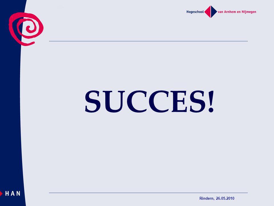 SUCCES! Rindern, 26.05.2010