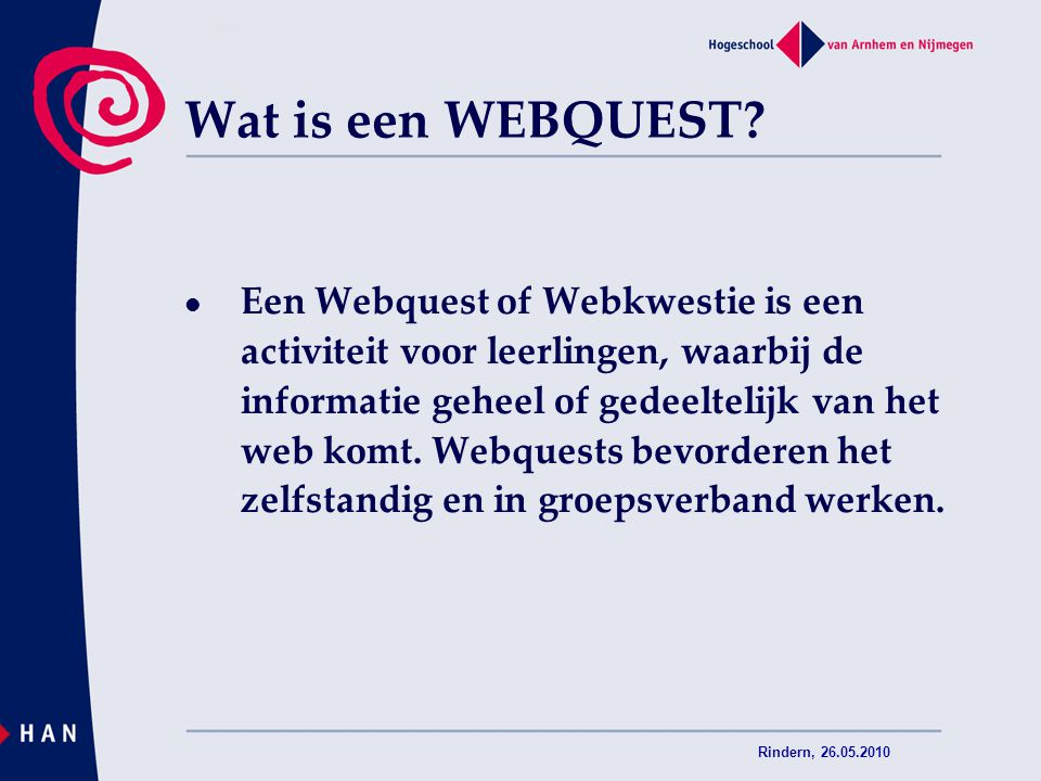 05/04/2017 Wat is een WEBQUEST