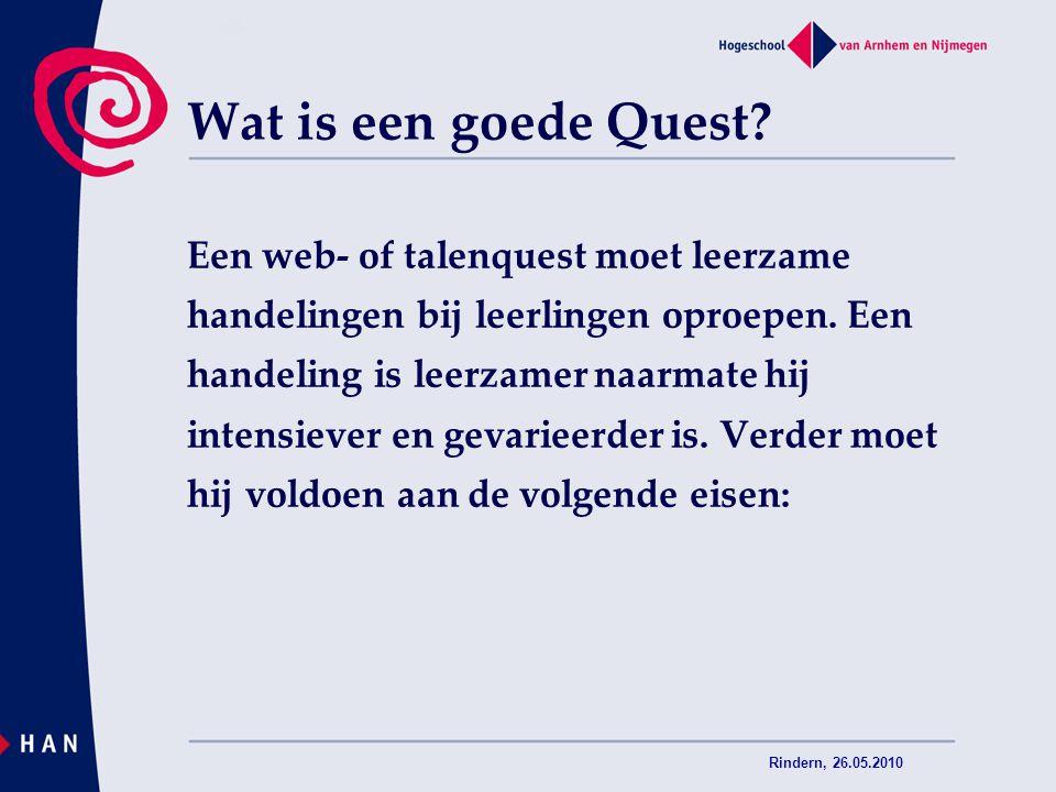 Wat is een goede Quest Een web- of talenquest moet leerzame