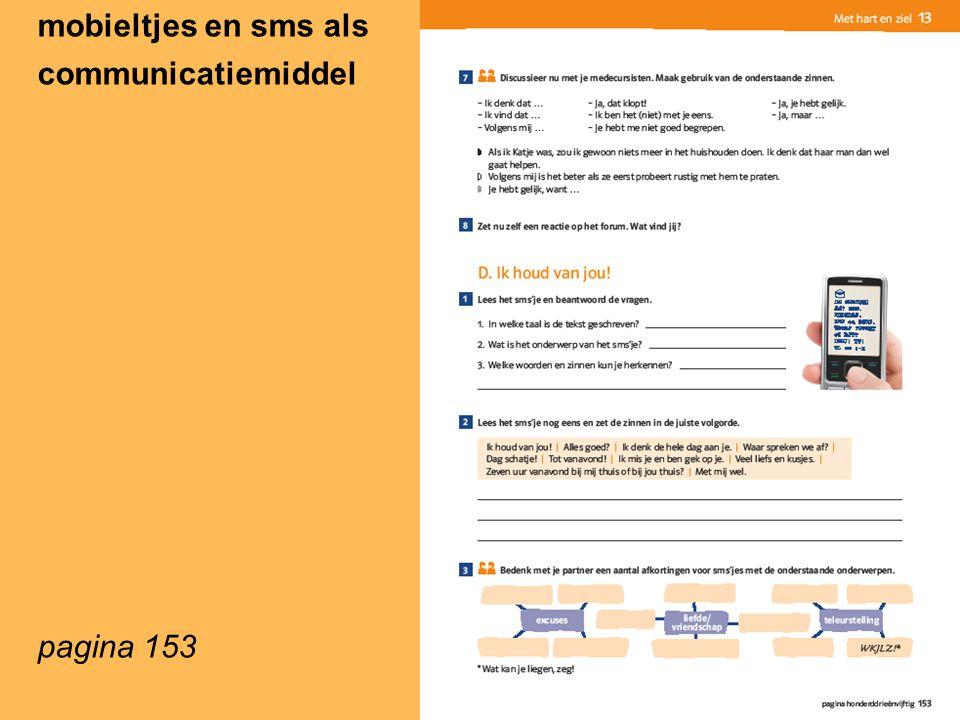 mobieltjes en sms als communicatiemiddel pagina 153