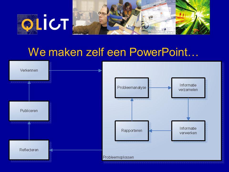 We maken zelf een PowerPoint…