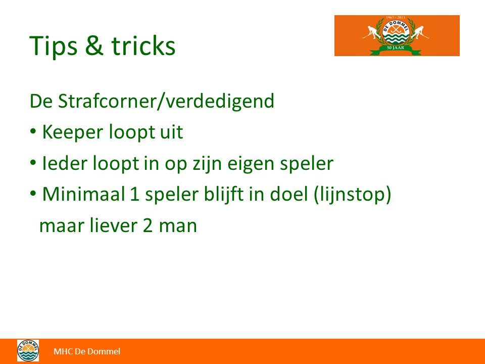Tips & tricks De Strafcorner/verdedigend Keeper loopt uit
