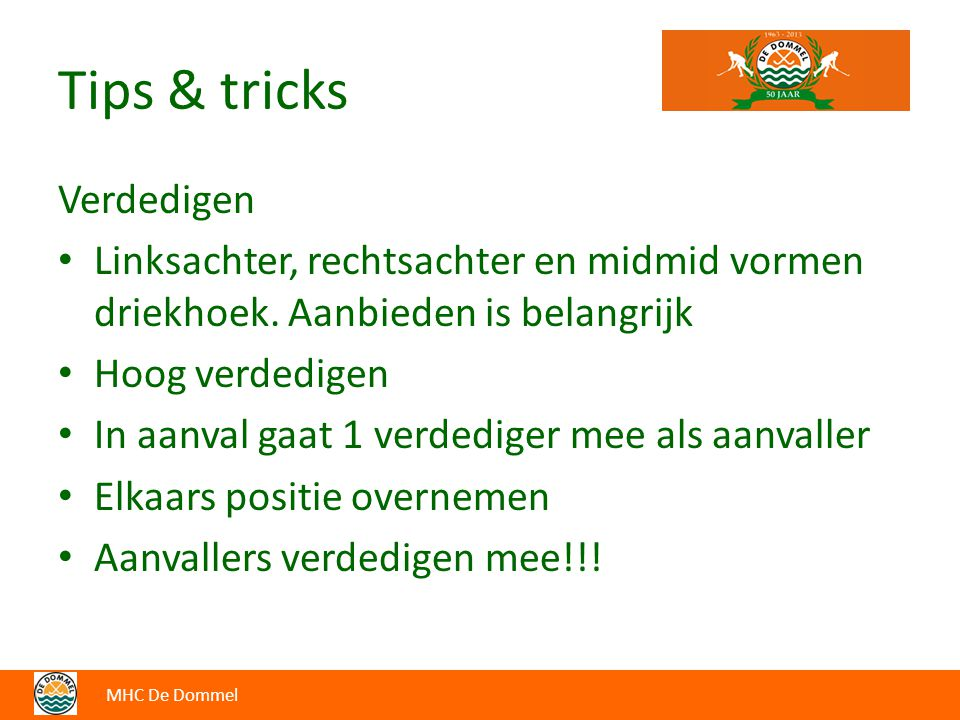 Tips & tricks Verdedigen