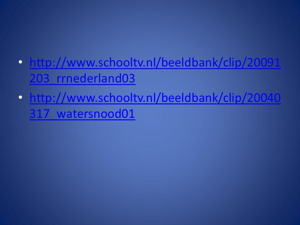 http://www.schooltv.nl/beeldbank/clip/20091203_rrnederland03 http://www.schooltv.nl/beeldbank/clip/20040317_watersnood01.