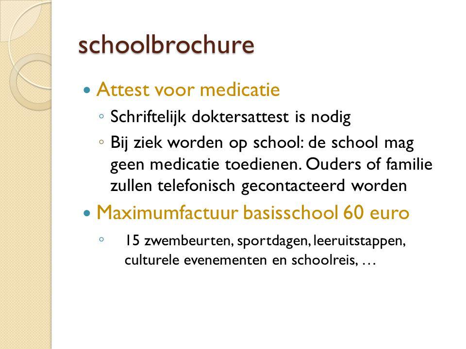 schoolbrochure Attest voor medicatie