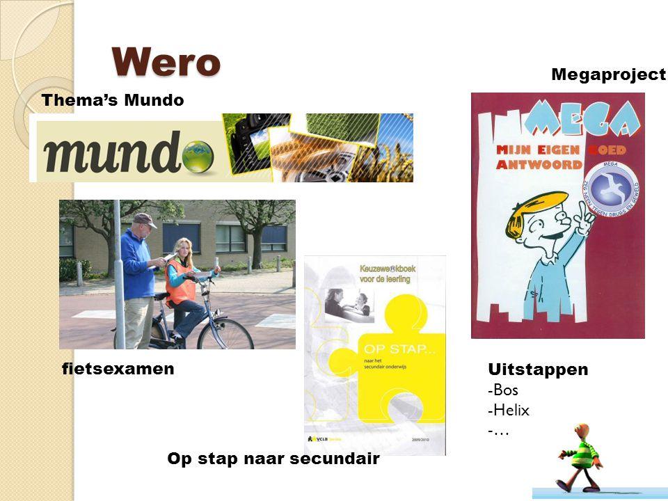 Wero Megaproject Thema's Mundo fietsexamen Uitstappen Bos Helix …
