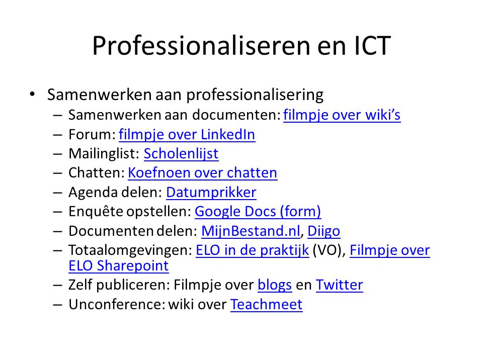 Professionaliseren en ICT