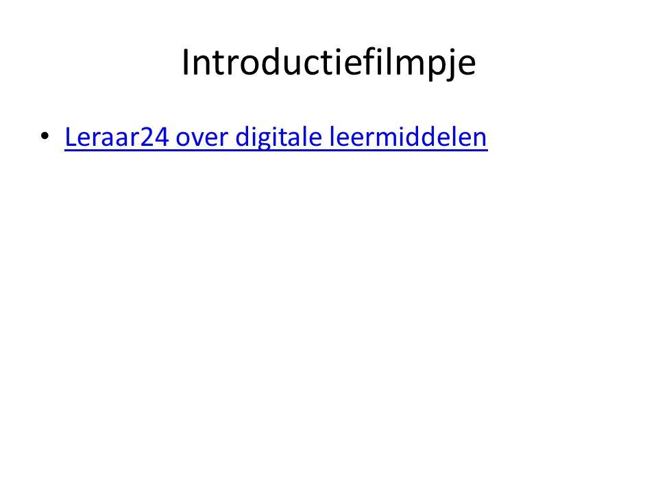 Introductiefilmpje Leraar24 over digitale leermiddelen