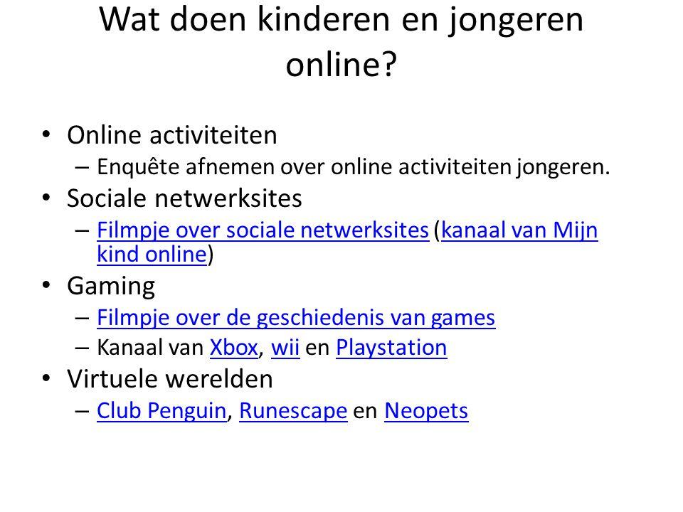 Wat doen kinderen en jongeren online