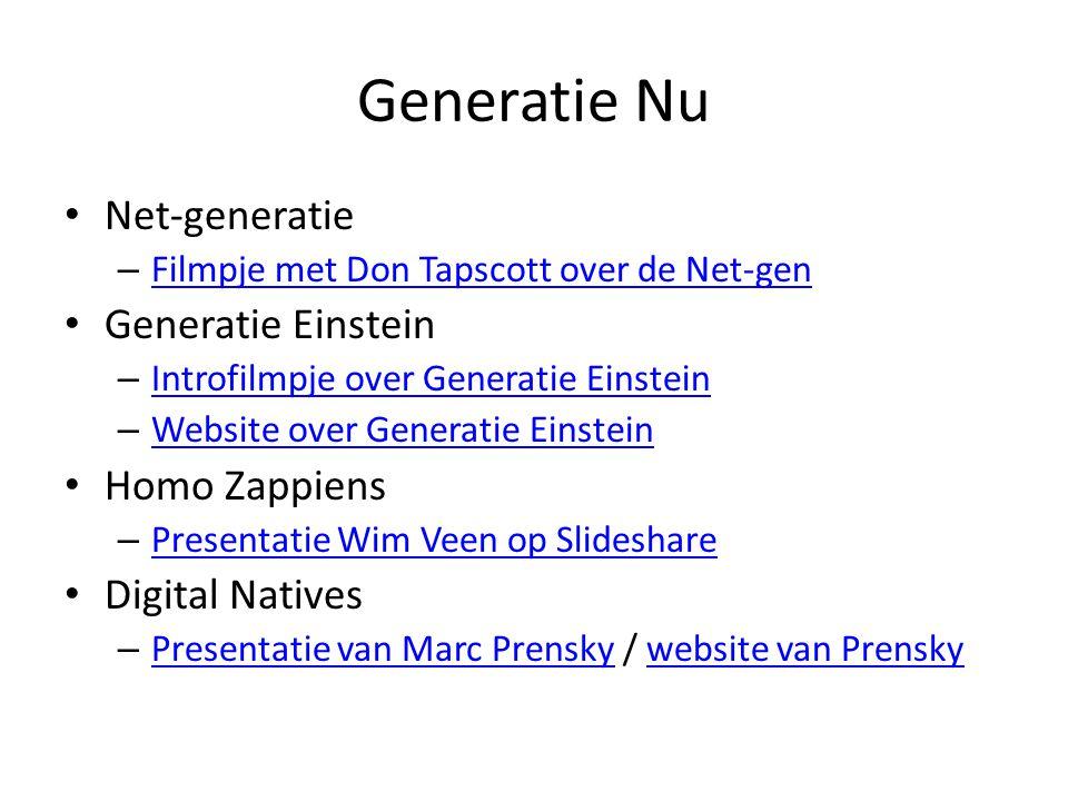 Generatie Nu Net-generatie Generatie Einstein Homo Zappiens