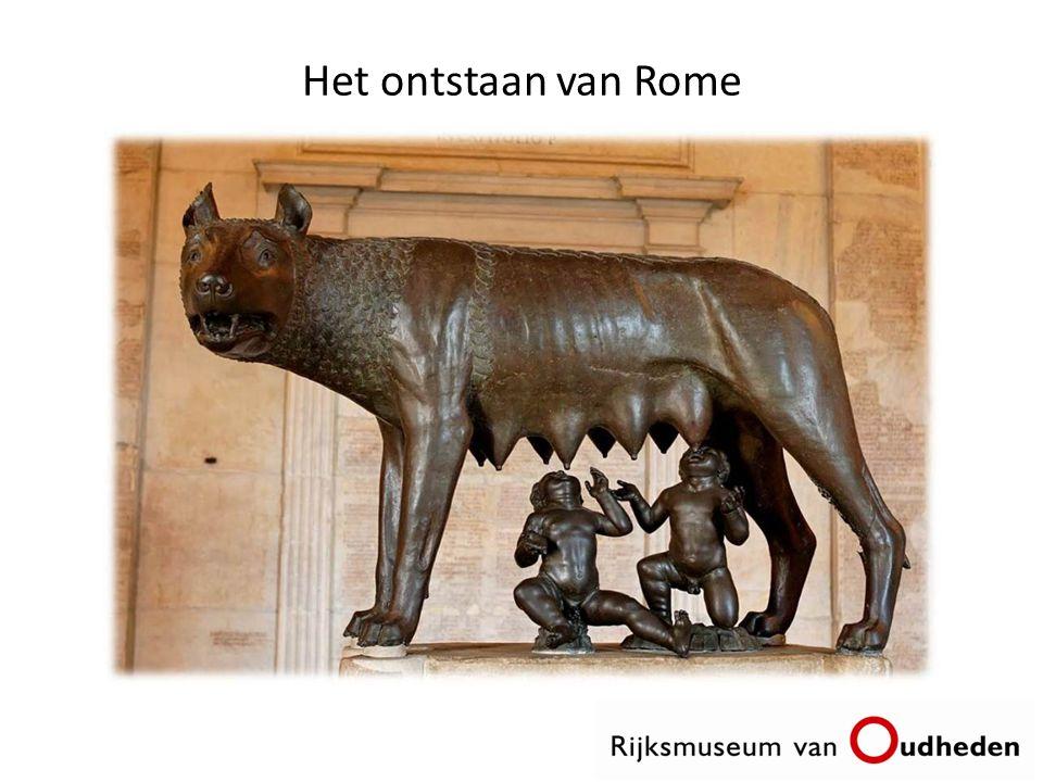 Het ontstaan van Rome Over de stichting van het oude Romeinse Rijk bestaat een mythe. Dat verhaal gaat als volgt;
