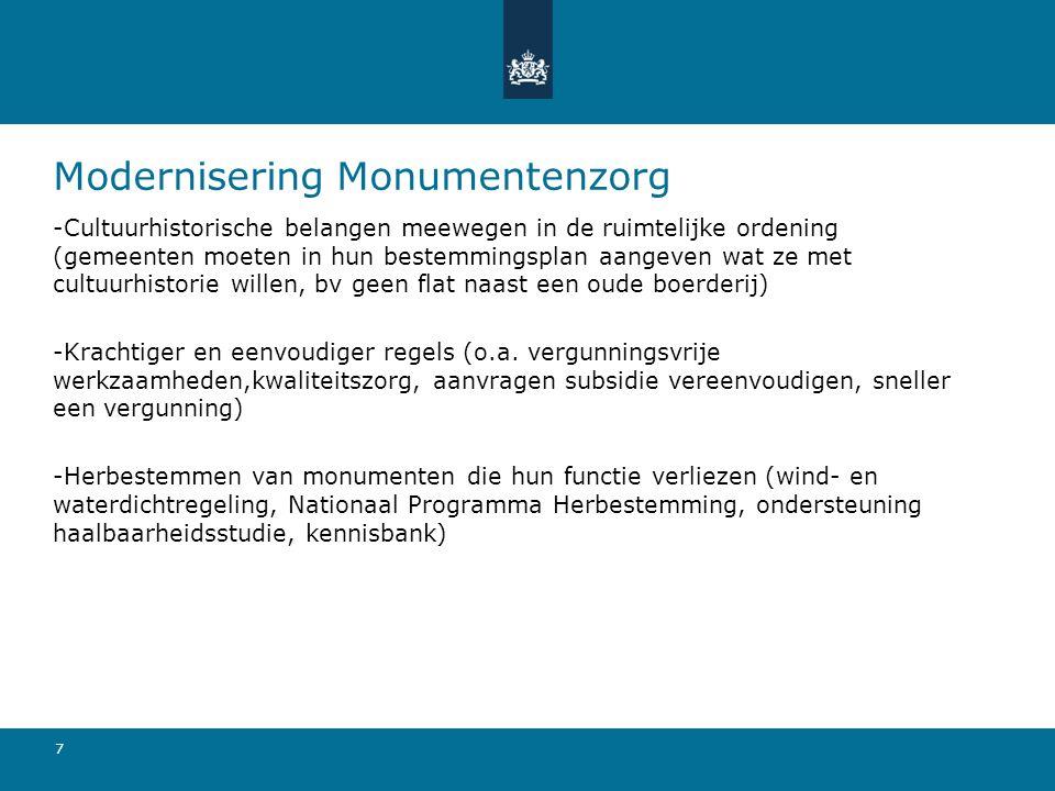 Modernisering Monumentenzorg