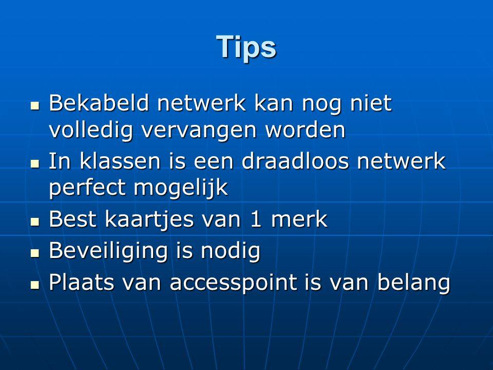 Tips Bekabeld netwerk kan nog niet volledig vervangen worden