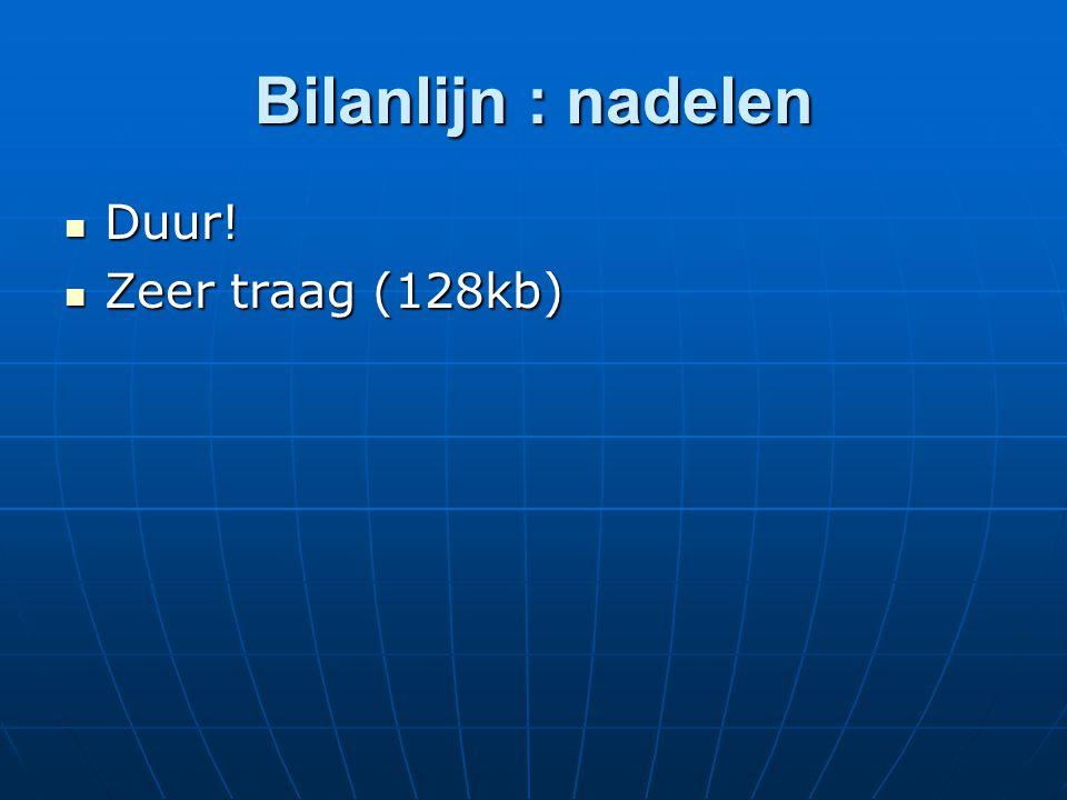 Bilanlijn : nadelen Duur! Zeer traag (128kb)