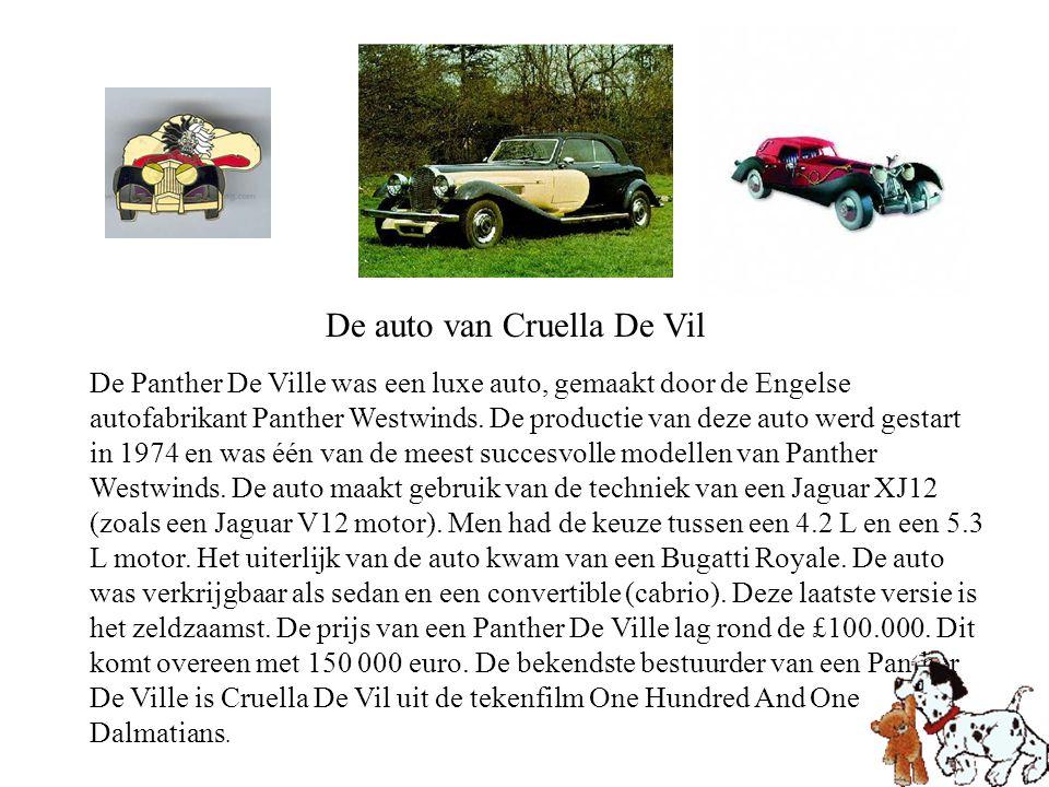 De auto van Cruella De Vil