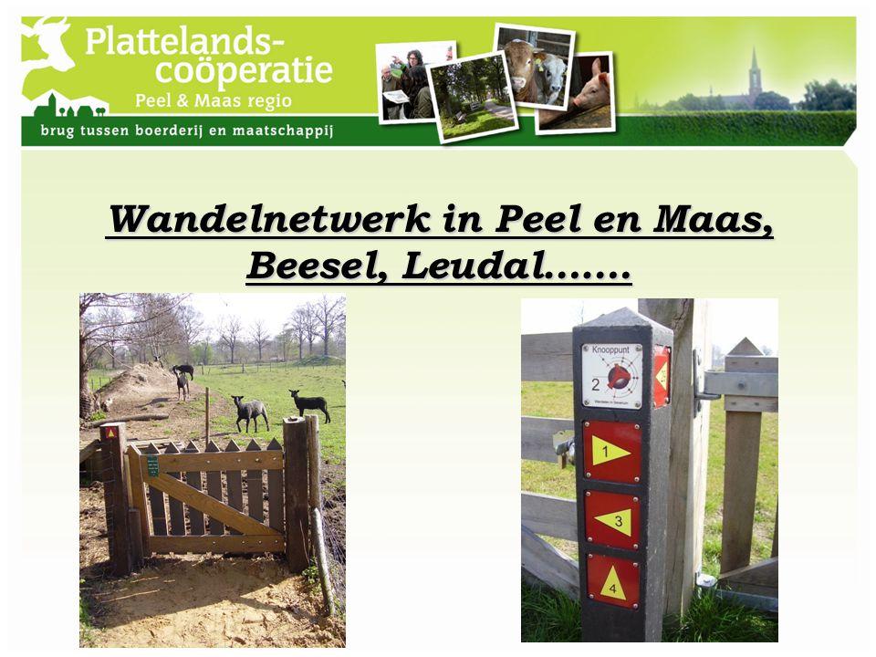 Wandelnetwerk in Peel en Maas, Beesel, Leudal…….