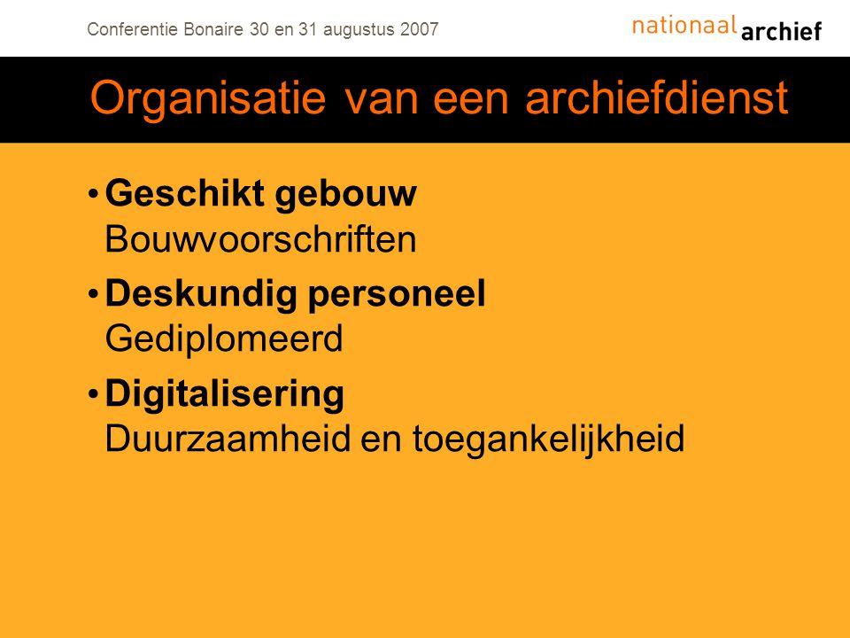 Organisatie van een archiefdienst