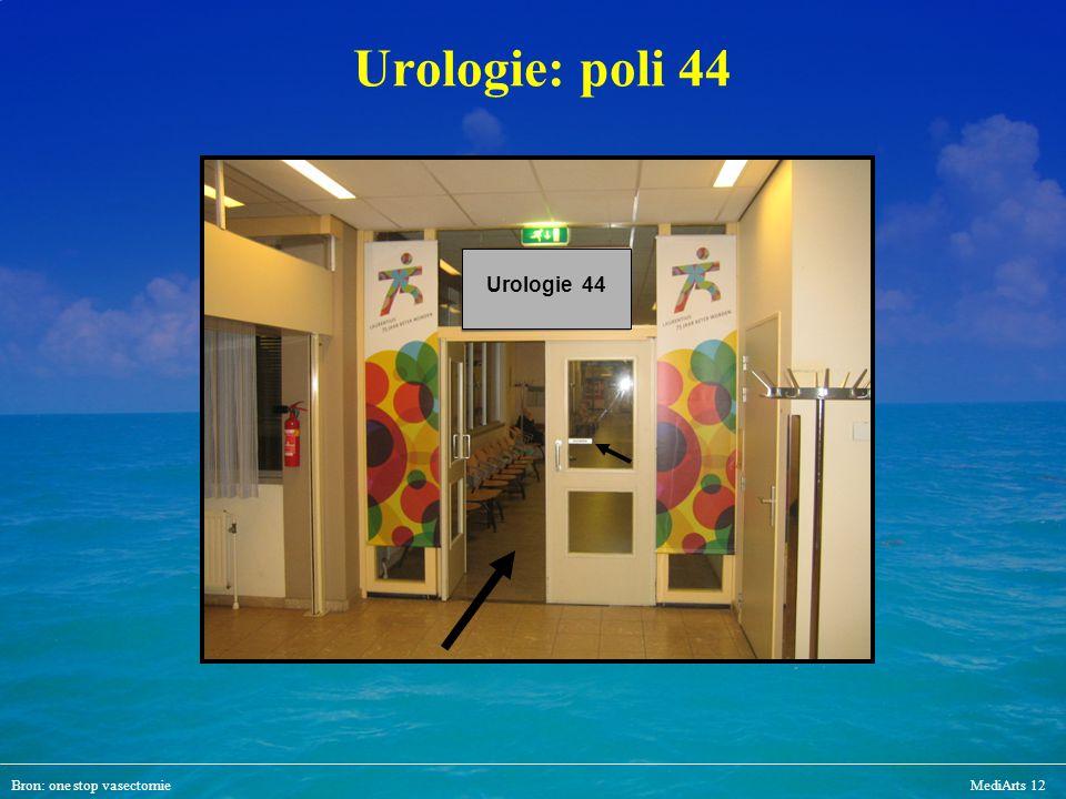 Urologie: poli 44 Urologie 44 Bron: one stop vasectomie MediArts 12