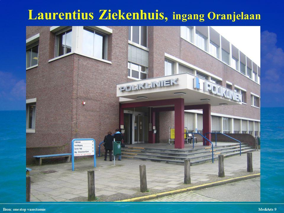 Laurentius Ziekenhuis, ingang Oranjelaan