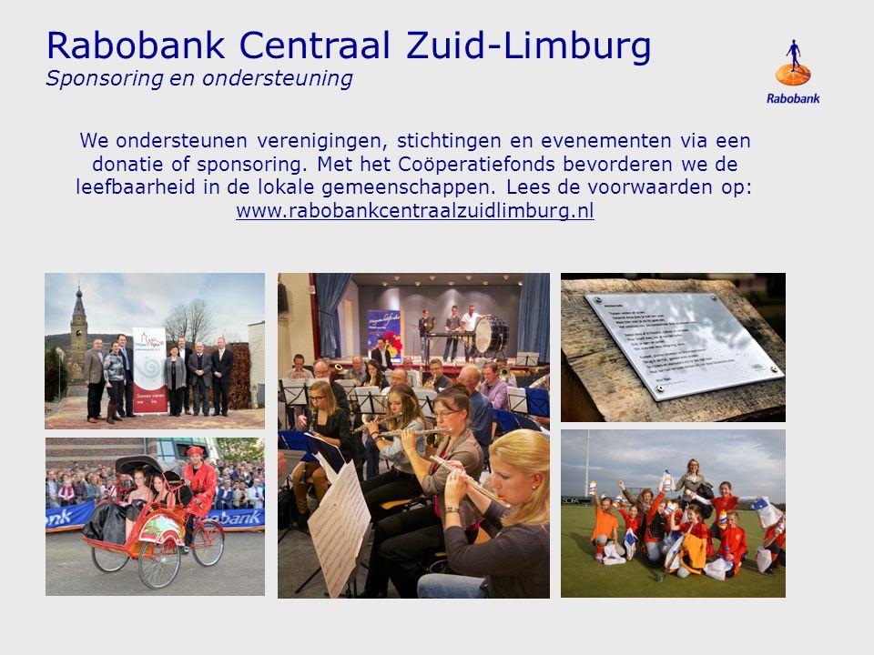 Rabobank Centraal Zuid-Limburg Sponsoring en ondersteuning