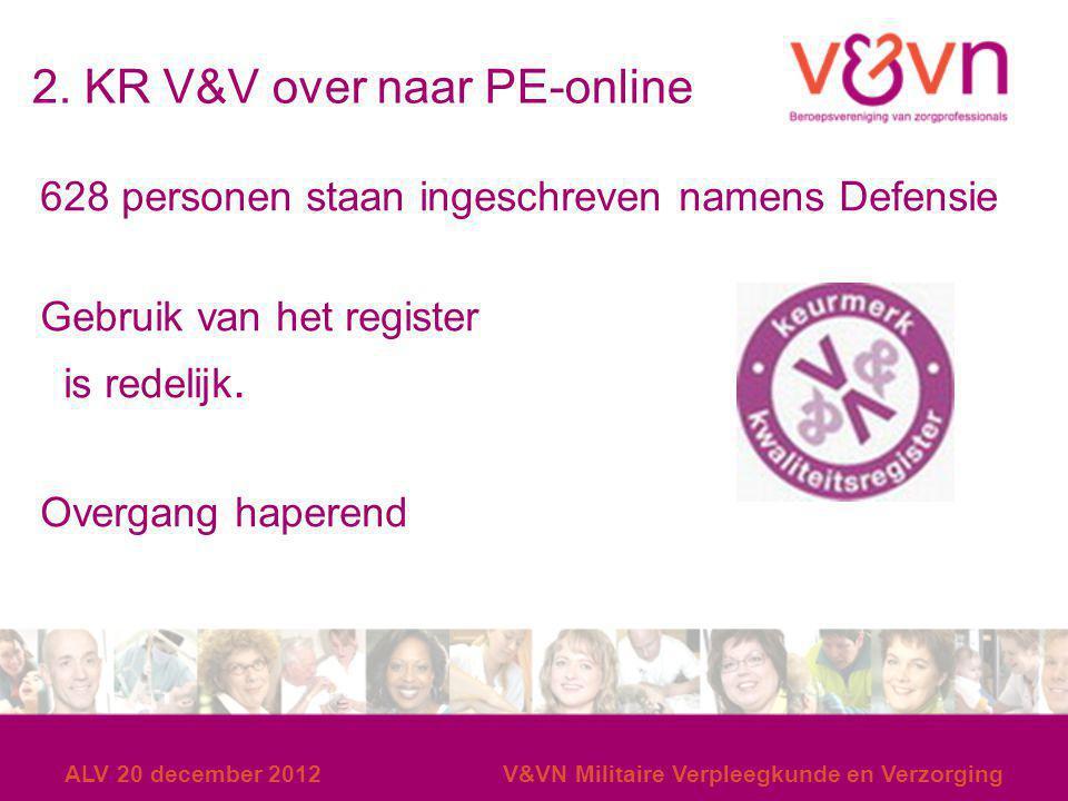 2. KR V&V over naar PE-online