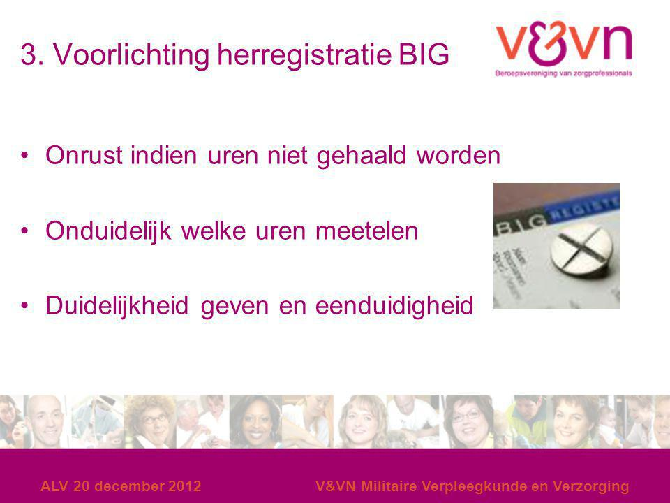 3. Voorlichting herregistratie BIG