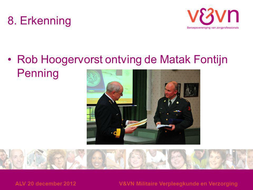 Rob Hoogervorst ontving de Matak Fontijn Penning