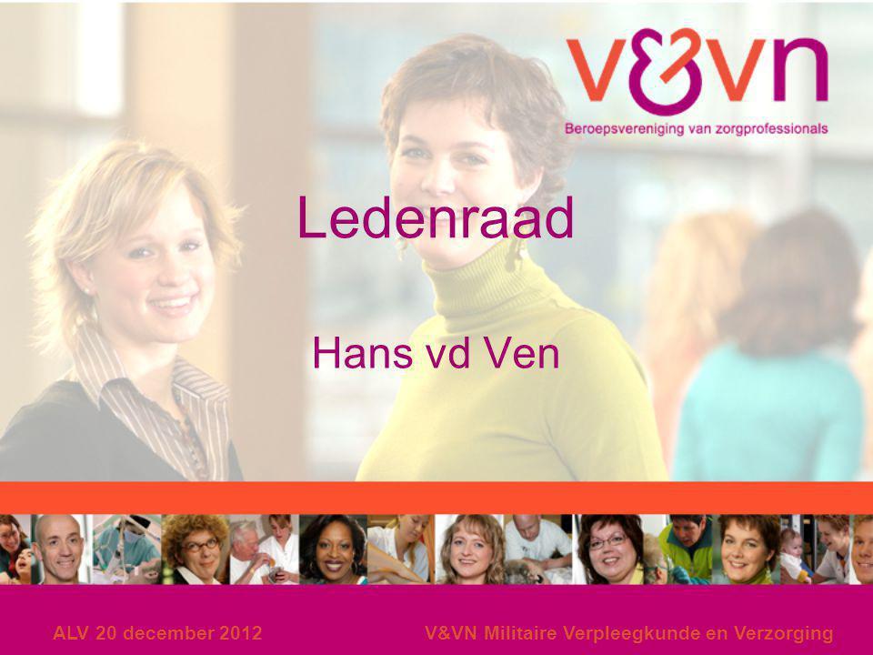Ledenraad Hans vd Ven ALV 20 december 2012