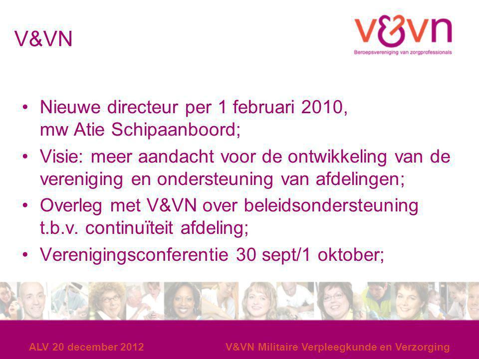 V&VN Nieuwe directeur per 1 februari 2010, mw Atie Schipaanboord;