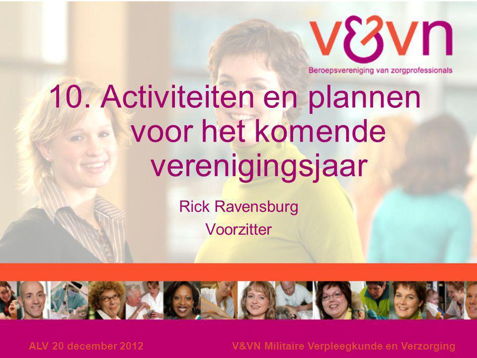 10. Activiteiten en plannen voor het komende verenigingsjaar