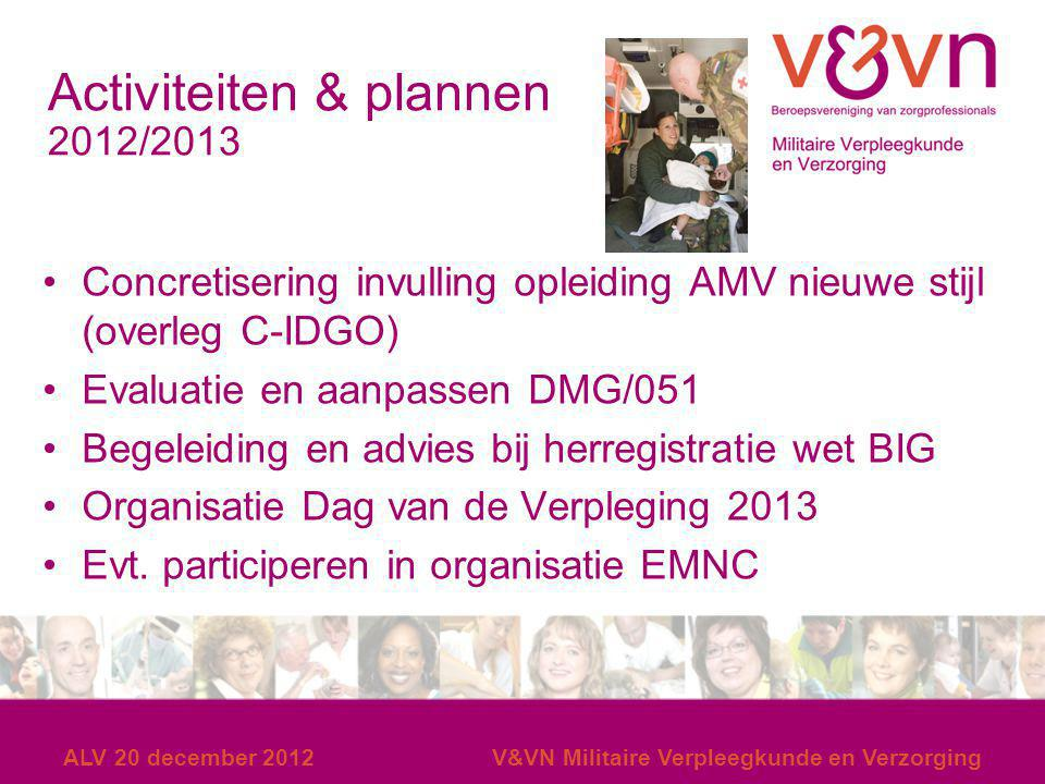 Activiteiten & plannen 2012/2013
