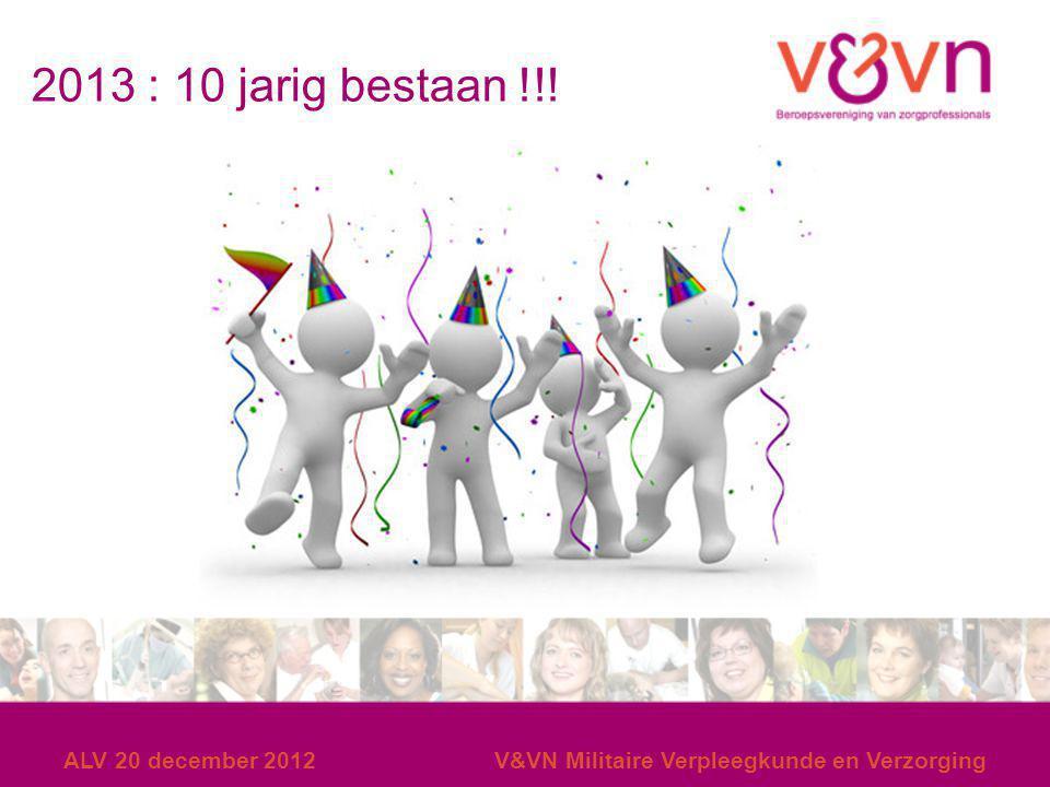 2013 : 10 jarig bestaan !!! ALV 20 december 2012
