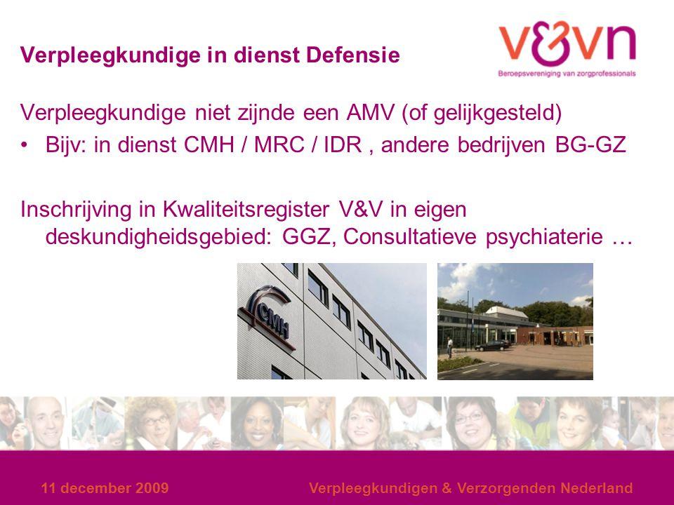 Verpleegkundige in dienst Defensie