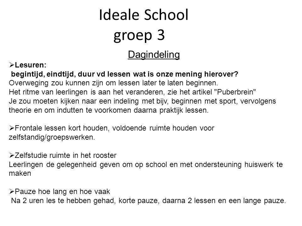 Ideale School groep 3 Dagindeling Lesuren: