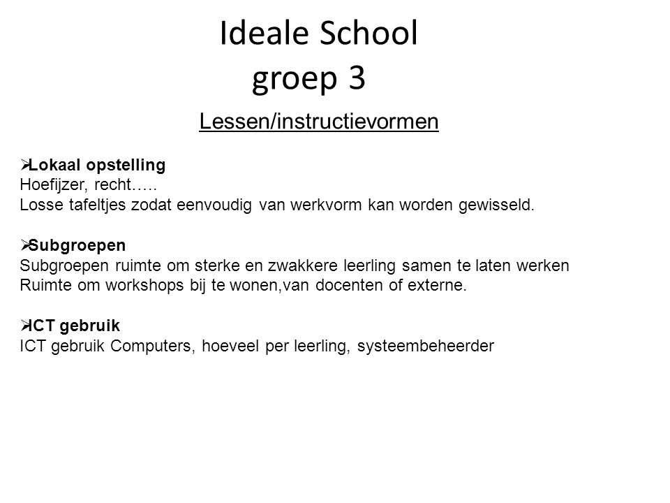 Lessen/instructievormen