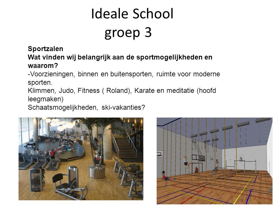 Ideale School groep 3 Sportzalen Wat vinden wij belangrijk aan de sportmogelijkheden en waarom