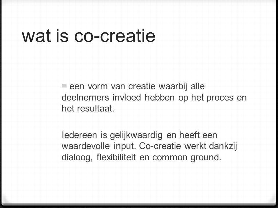 wat is co-creatie