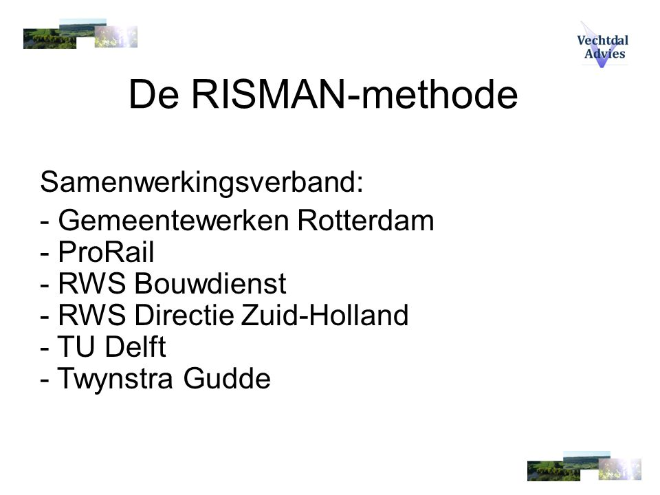De RISMAN-methode Samenwerkingsverband: