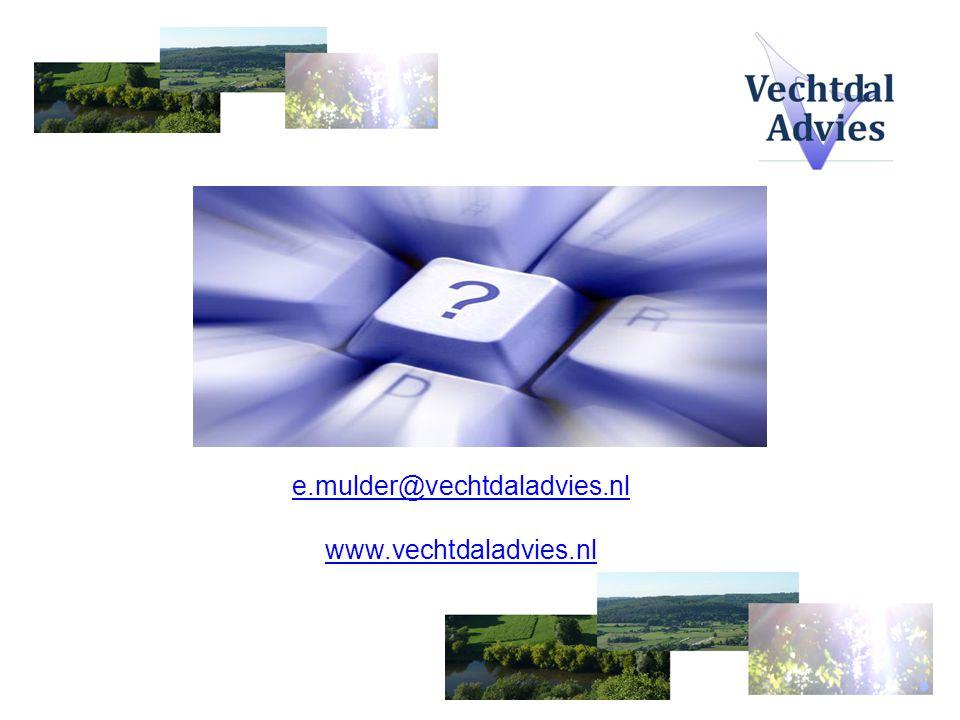 e.mulder@vechtdaladvies.nl www.vechtdaladvies.nl