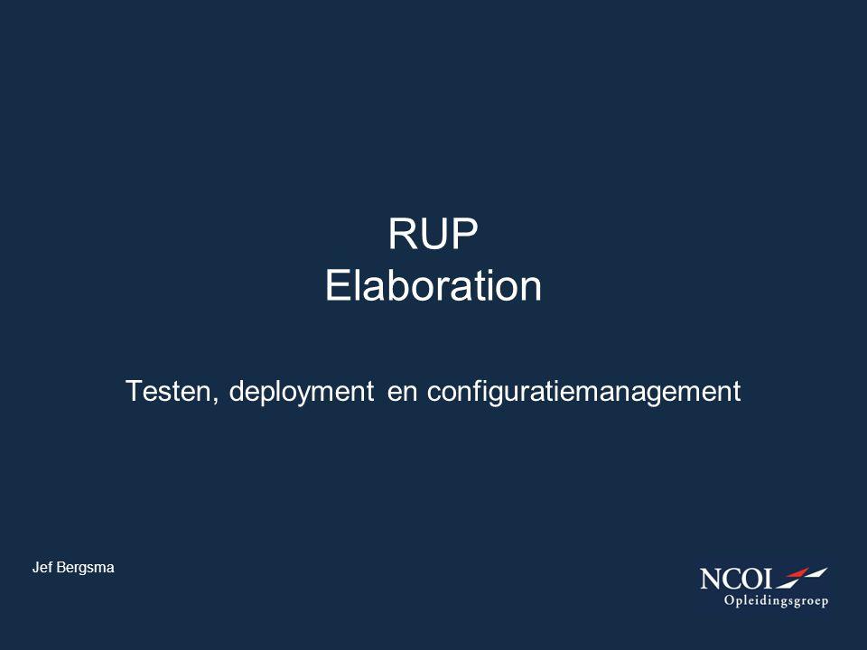 Testen, deployment en configuratiemanagement